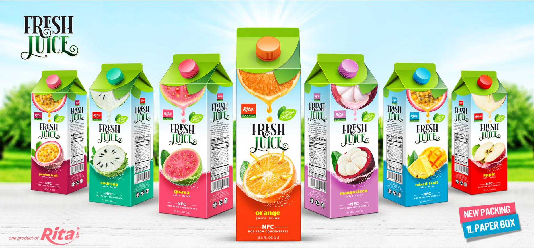 Fruit Juice 1L Paper Box