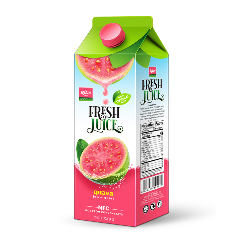 Guava juice 1000ml Paper Box