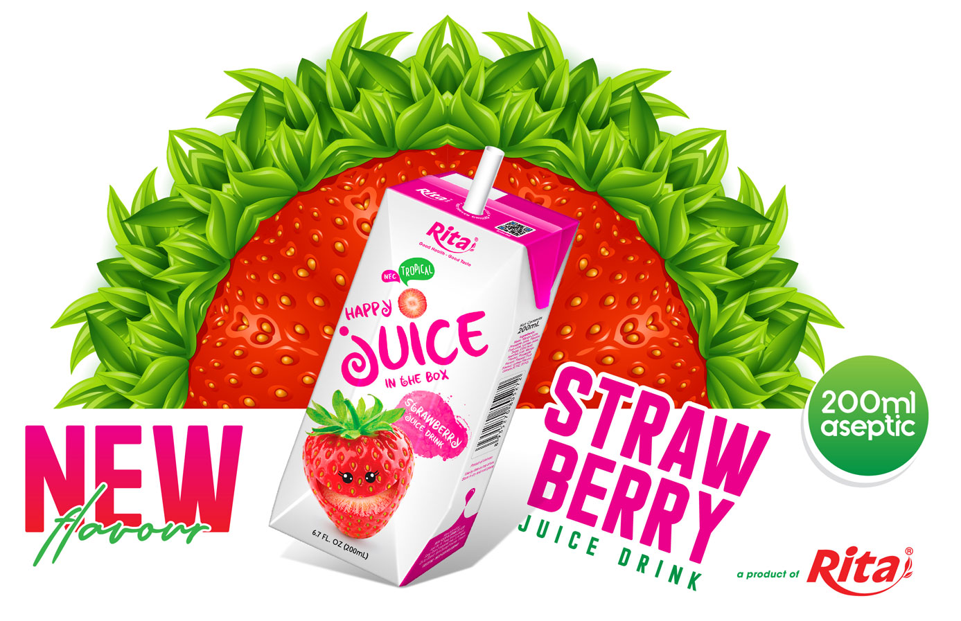 Poster strawberry 200ml