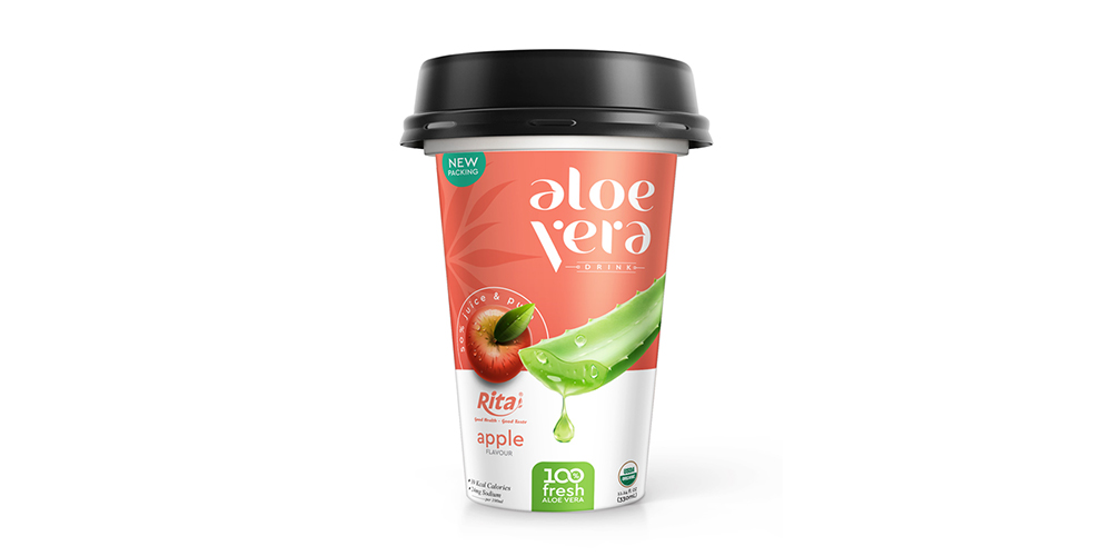 Aloe Vera With Apple Flavor 330ml PP Cup Rita Brand