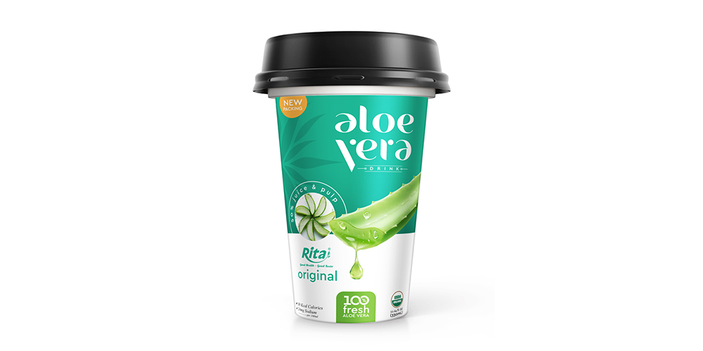 Aloe Vera With Original Flavor 330ml PP Cup Rita Brand