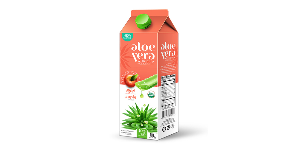 Aloe Vera With Pulp 1L Paper Box Rita Brand