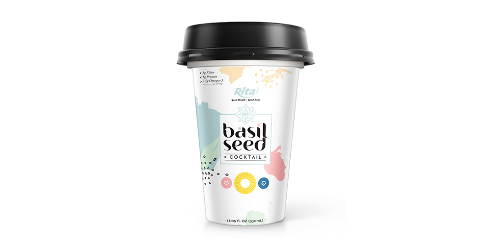 Basil Seed With Cocktail 330ml PP Cup