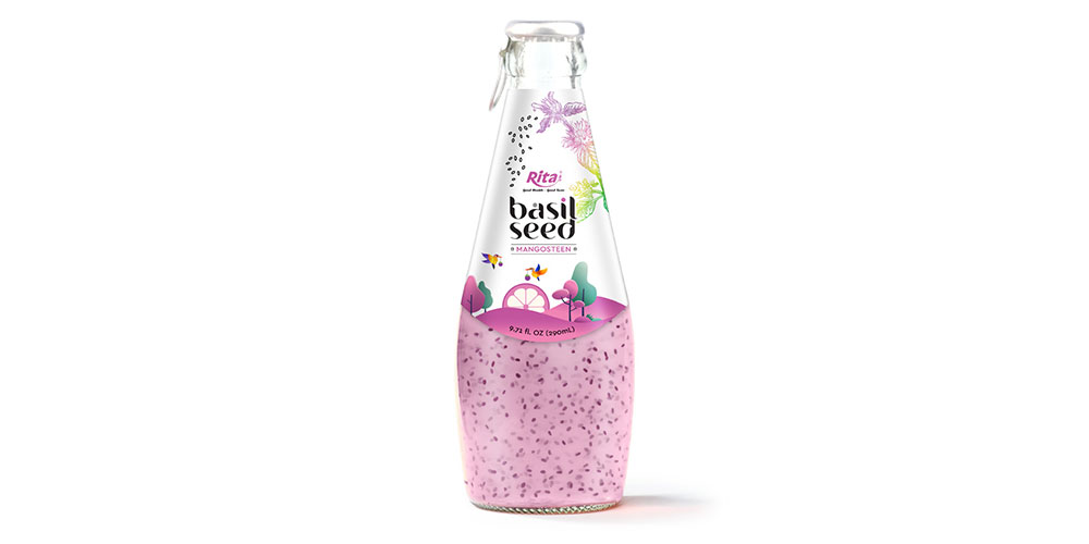 Basil Seed With Mangosteen 290ml Glass Bottle