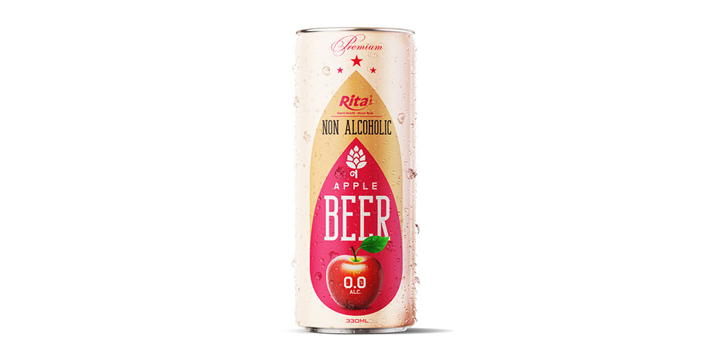Non Alcoholic Apple Beer 330ml Can Rita Brand