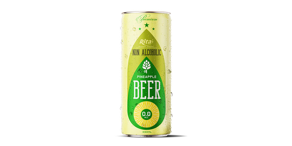 Non Alcoholic Pineapple Beer 330ml Can Rita Brand