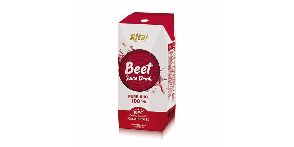 Paper Box 200ml Beet Juice Rita Brand
