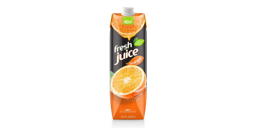 Orange Juice Drink 1000ml Paper Box Rita Brand