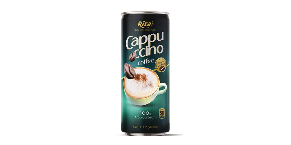 Cappuccino Coffee 250ml Alu Can Rita Brand