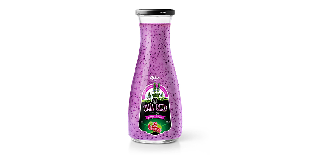 Chia Seed With Grape 1L Glass Bottle
