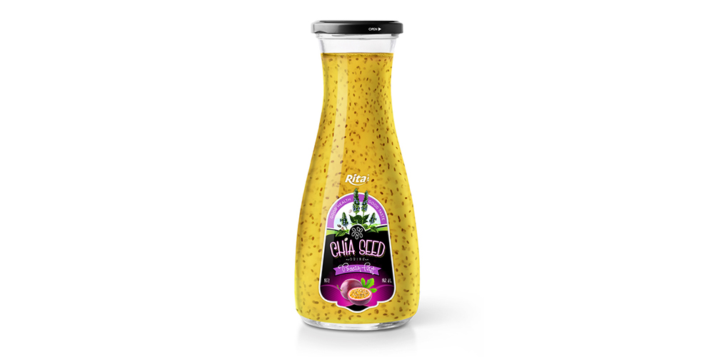 Chia Seed With Passion Fruit 1L Glass Bottle