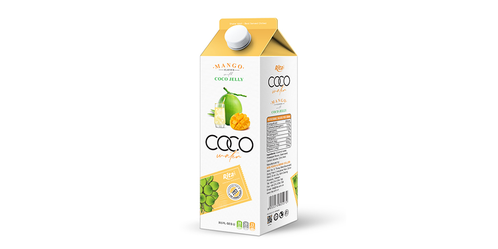 Coconut Water With Coco Jelly And Mango Flavor 1L Paper Box