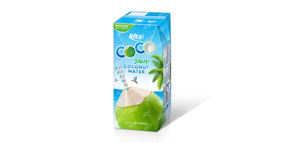 Pure Coconut Water 200ml Paper Box Rita Brand