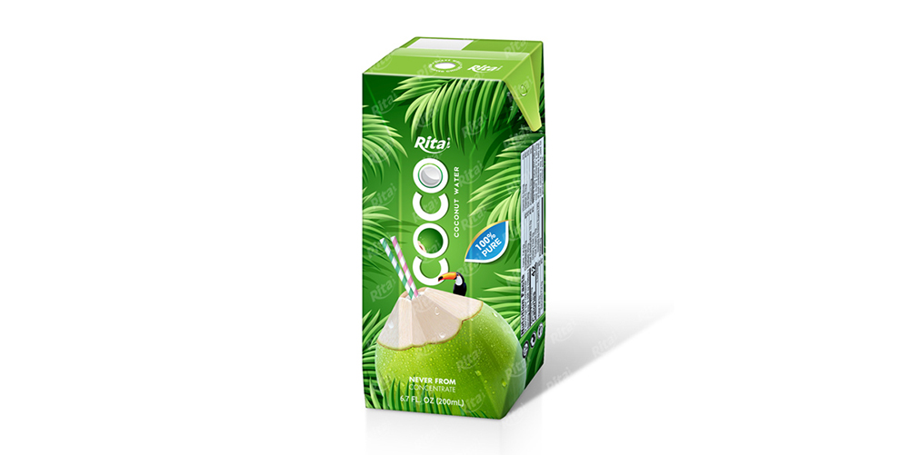 Coconut Water 200 ml Paper Box Rita Brand