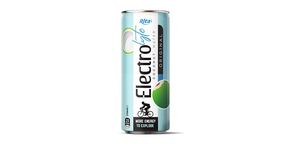 Electrolyte Coconut Water Original Flavor 250ml Can