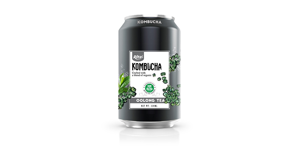 Kombucha Oolong Tea 330ml Can Rita Brand