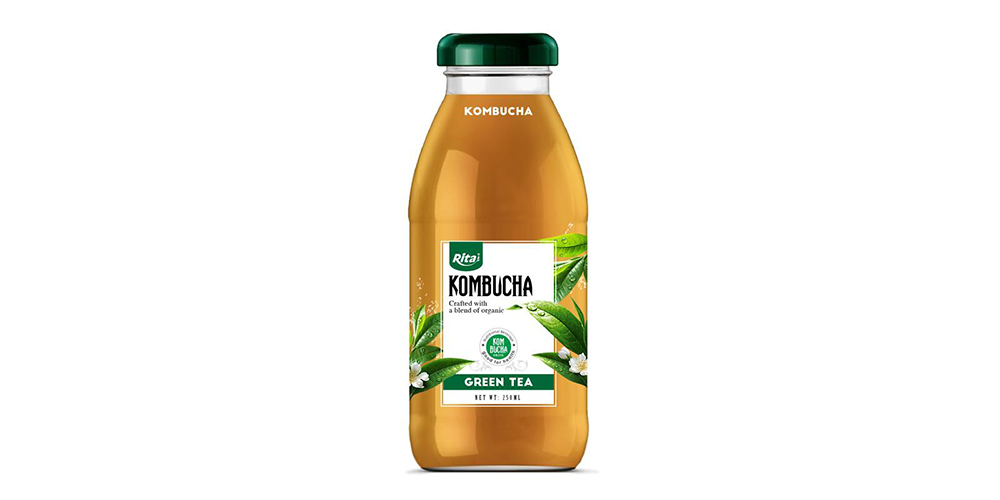 Kombucha Green Tea 250ml Glass Bottle Rita Brand