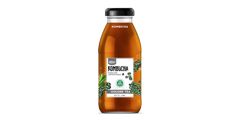 Kombucha Oolong Tea 250ml Glass Bottle Rita Brand