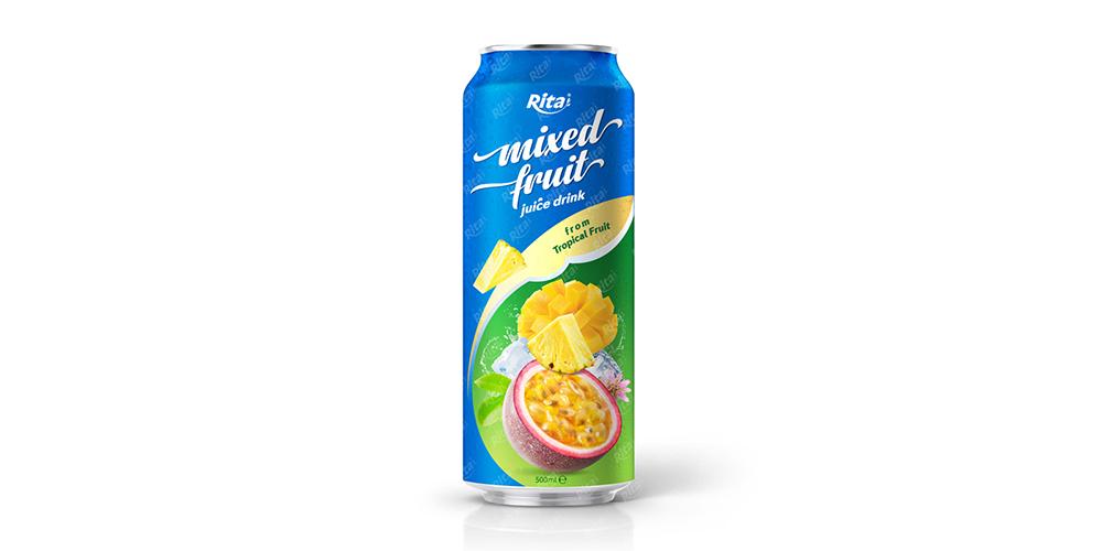 Mixed Fruit Juice 500ml Can Rita Brand