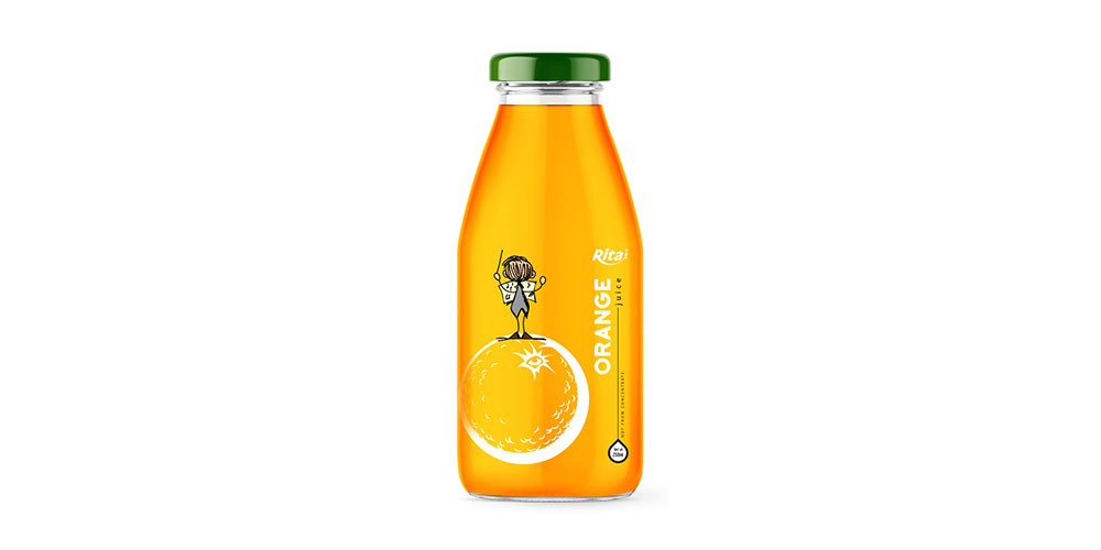 Orange Juice 250ml Glass Bottle Rita Brand