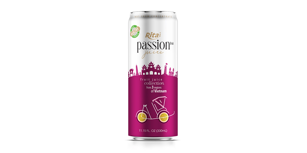 3 Regions Passion Fruit Juice Drink 330ml Alu Can