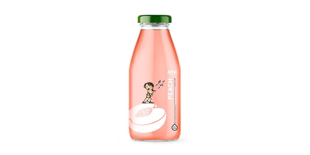 Peach Juice 250m Glass Bottle Rita Brand