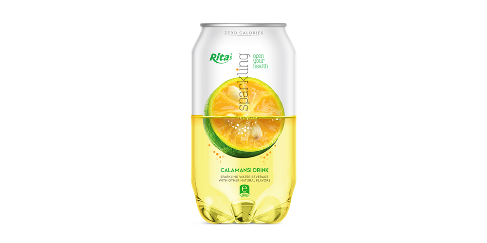Pet can 350ml Sparkling drink with calamasi  flavor