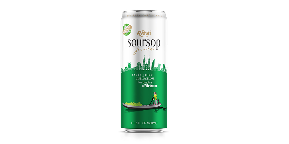3 Regions Soursop Juice Drink 330ml Alu Can