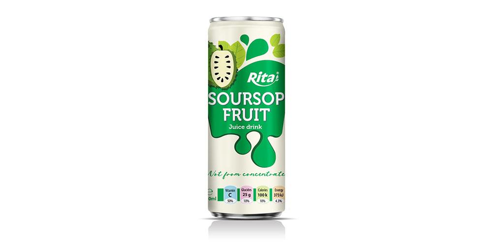 Soursop Juice Drink 250ml Sleek Can Rita Brand