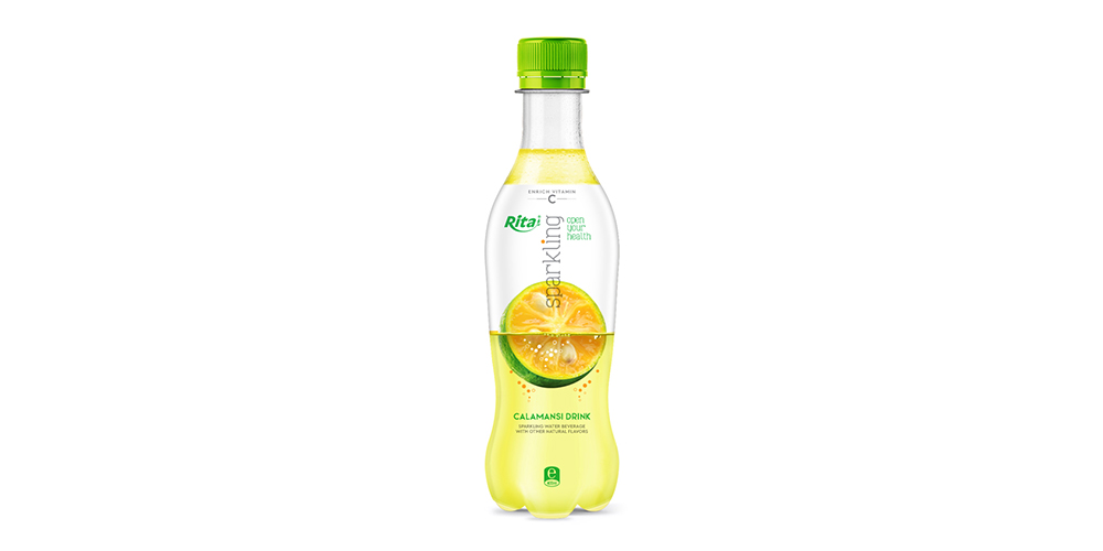 Sparkling Calamansi Flavor Water 400ml Bottle Rita Brand