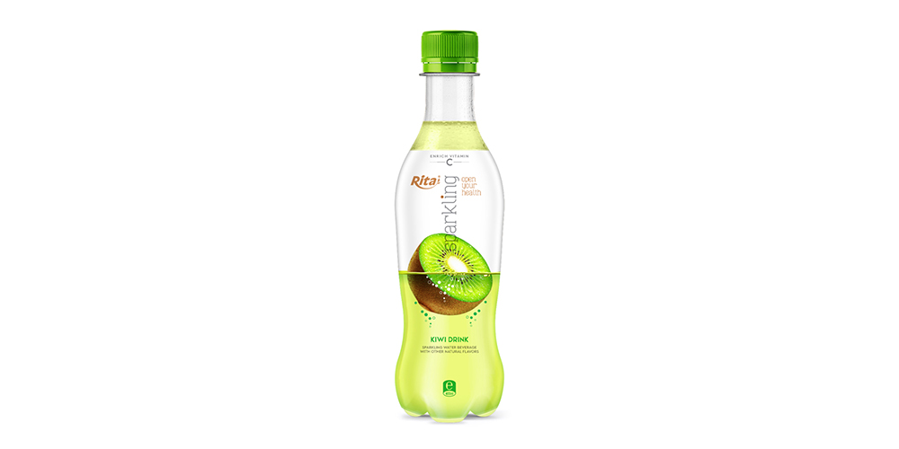 Sparkling Kiwi Flavor Water 400ml Bottle Rita Brand