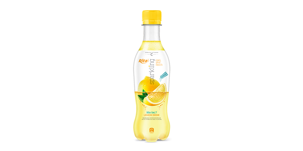 Sparkling Sea Salt Lemon Flavor Water 400ml Bottle Rita Brand