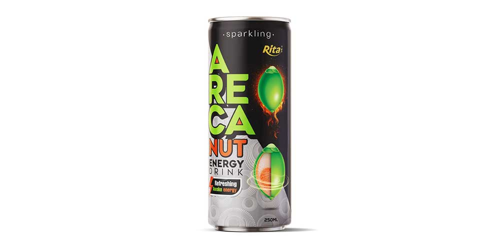 Sparkling Areca Nut Energy Drink 250ml Can