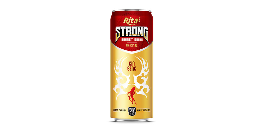 Strong Energy Drink 330ml Can Rita Brand