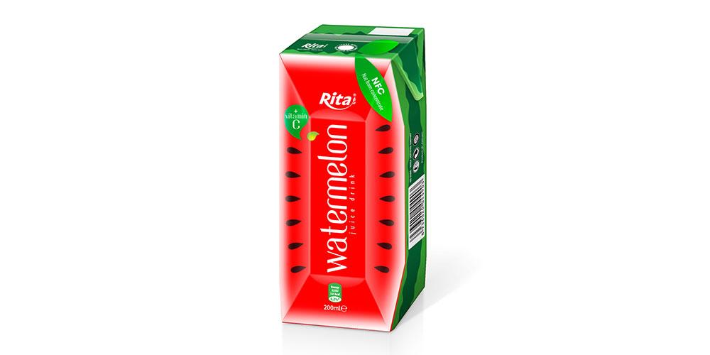 Paper Box 200ml Watermelon Juice Rita Brand