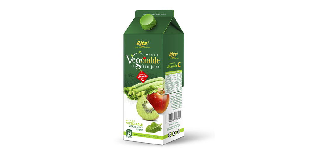 Mixed Vegetable Juice 1000ml Paper Box Rita Brand