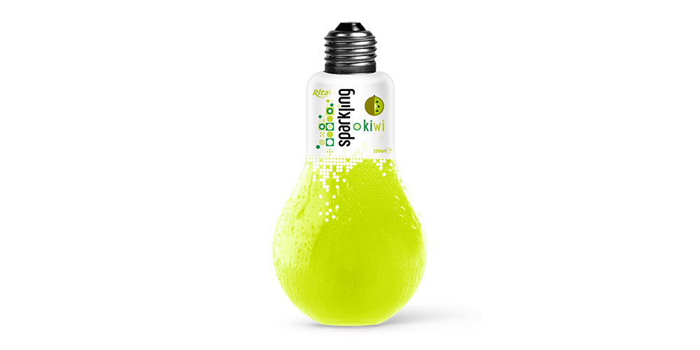 Sparkling Kiwi Flavor Water 350ml Bulp Bottle Rita Brand