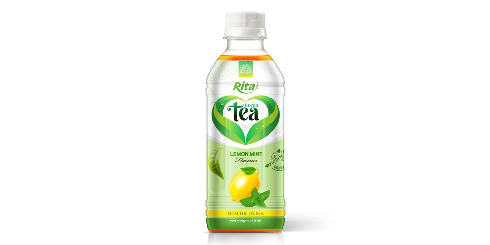Vietnamese Tea Drink With Lemon Mint Flavor 350ml Pet Bottle Rita Brand
