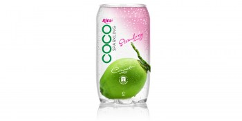 350ml  Pet bottle  Sparking coconut water  with strawberry juice from RITA Beverages