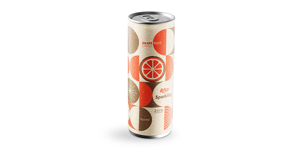 Sparkling Water With Grapefruit Flavor 250ml Alu Can