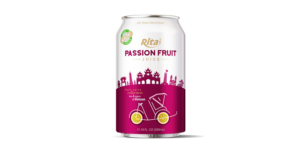 3 Regions Passion Fruit Juice Drink 330ml Short Alu Can