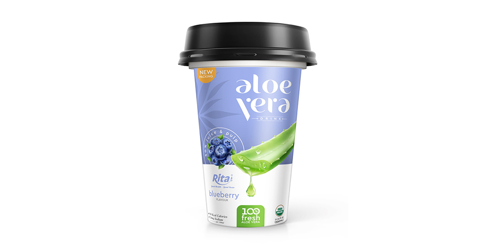 Aloe Vera With Blueberry Flavor 330ml PP Cup Rita Brand