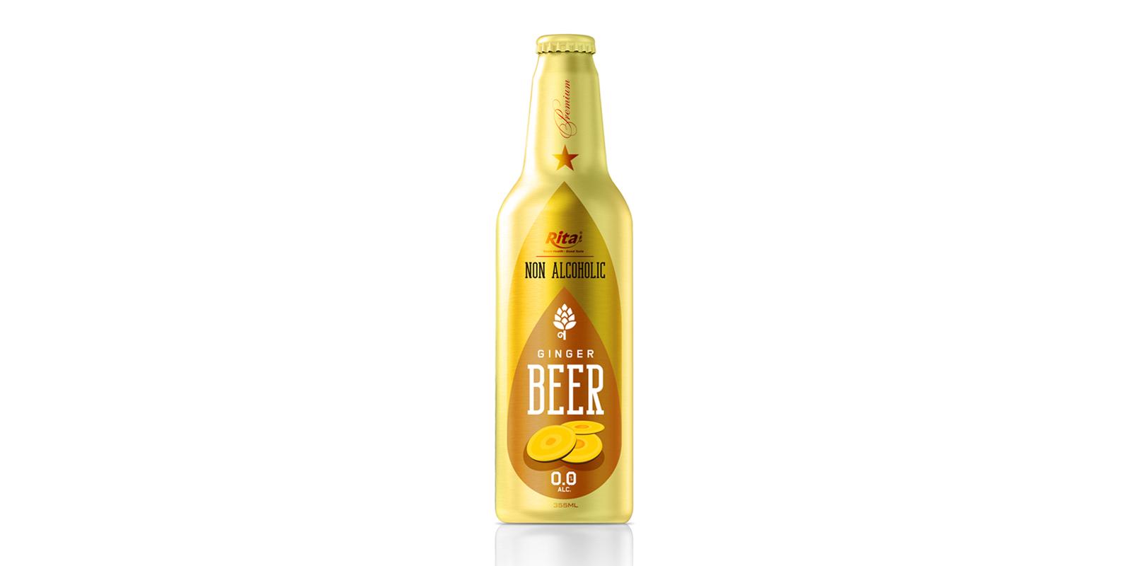 Non Alcoholic Ginger Beer355ml Alu Bottle Rita Brand