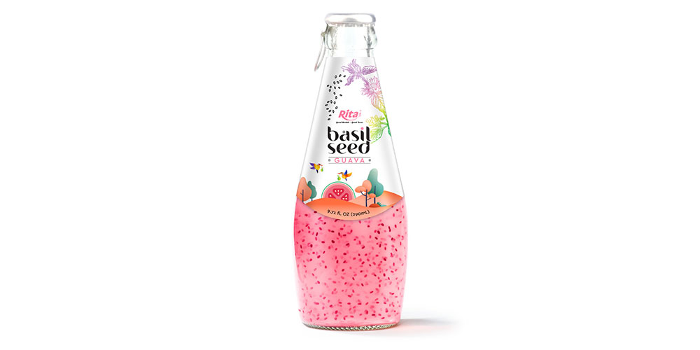 Basil Seed With Guava Flavor 290ml Glass Bottle