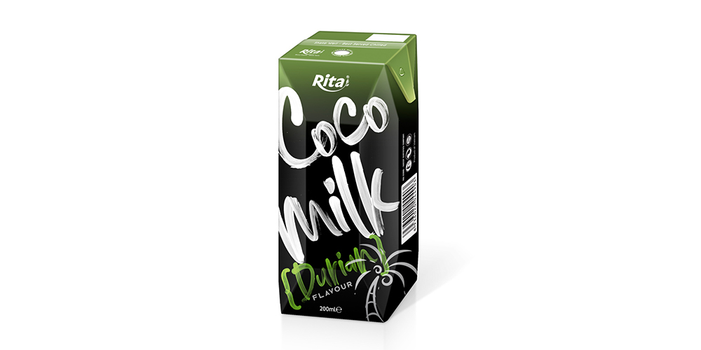 Coconut Milk with Durian Flavor 200ml Paper Box