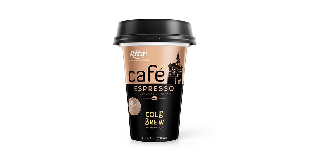 Espresso Coffee 330ml PP Cup Cold Drew