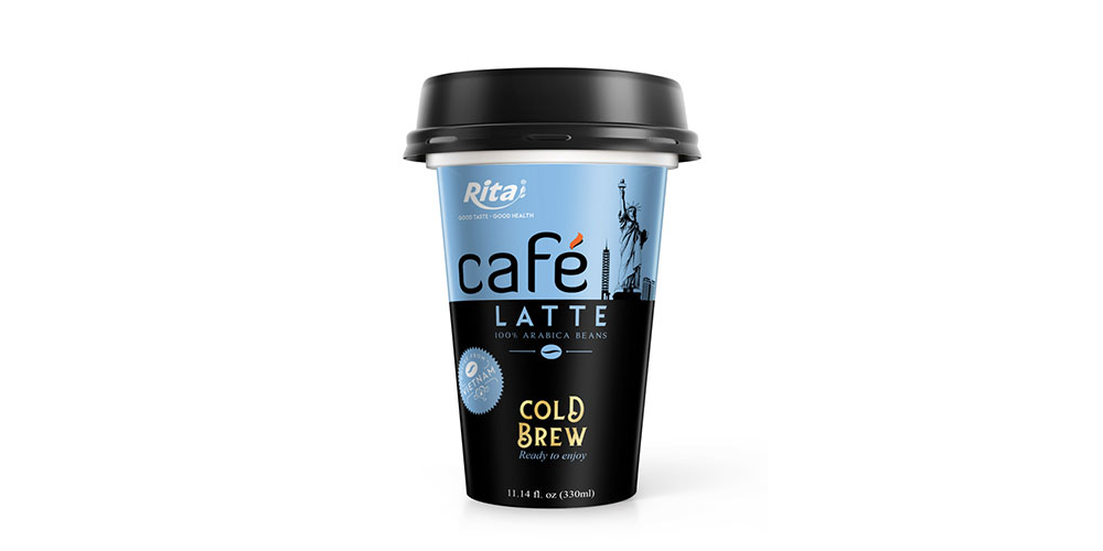 Latte Coffee 330ml PP Cup Cold Drew