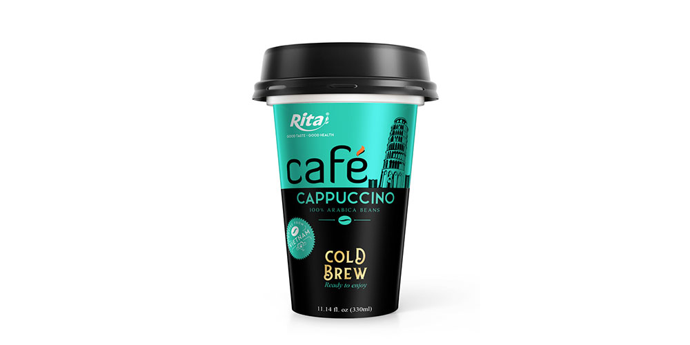 Cappuccino Coffee 330ml PP Cup Cold Drew