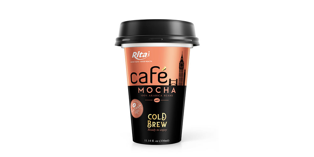 Mocha Coffee 330ml PP Cup Cold Drew