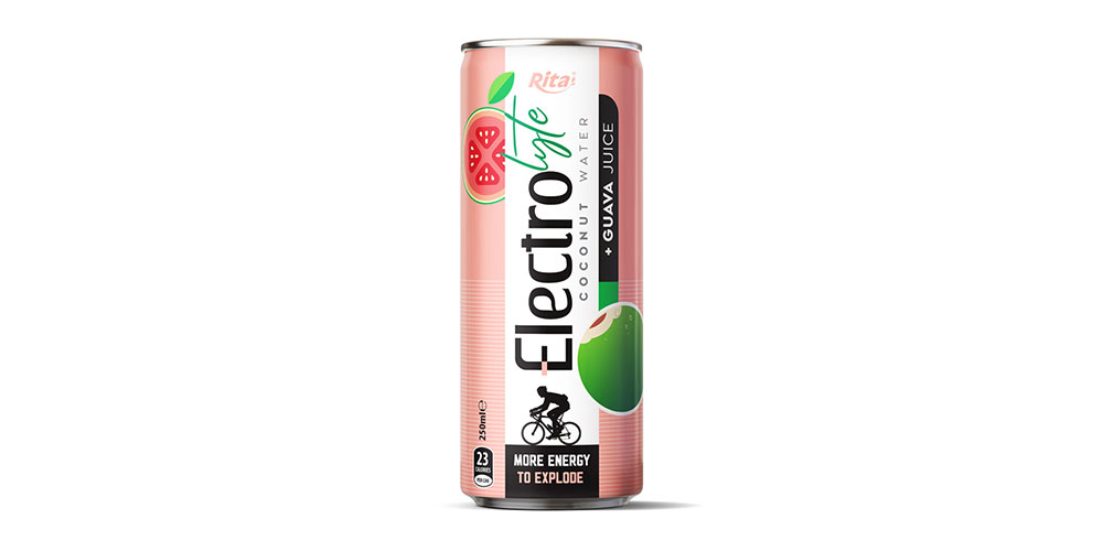 Electrolyte Coconut Water With Guava Juice 250ml Can